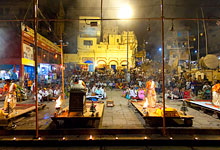 Night time Arti Ceremony at Dasaswamedh Ghat